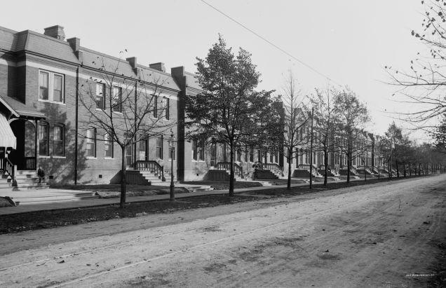 Casas de los trabajadores en Pullman (c. 1890)
